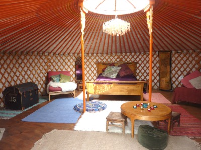 Yurts with proper beds Lake District