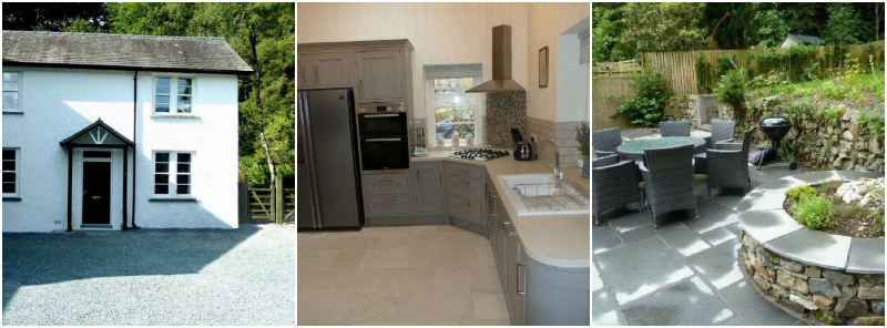 Pet friendly self catering close to Windermere pubs with garden and BBQ