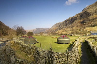 pre-erected yurt tents lake district