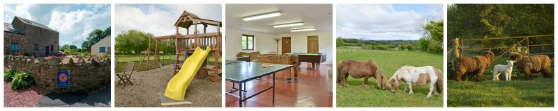 Rural self catering cottages near Bassenthwaite with childrens play area and games room