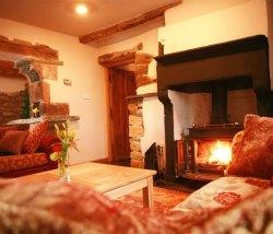 Lake District hot tub aga wood burner