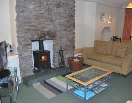 grasmere cottage with wood burning stove