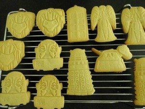 Dr Who biscuits