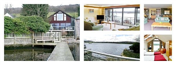 lake frontage dog friendly cottage to rent with shared jetty
