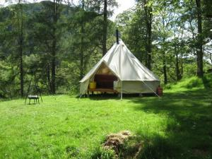 Glamping in the Lake District. These Bell Tents have a real Bohemian feel