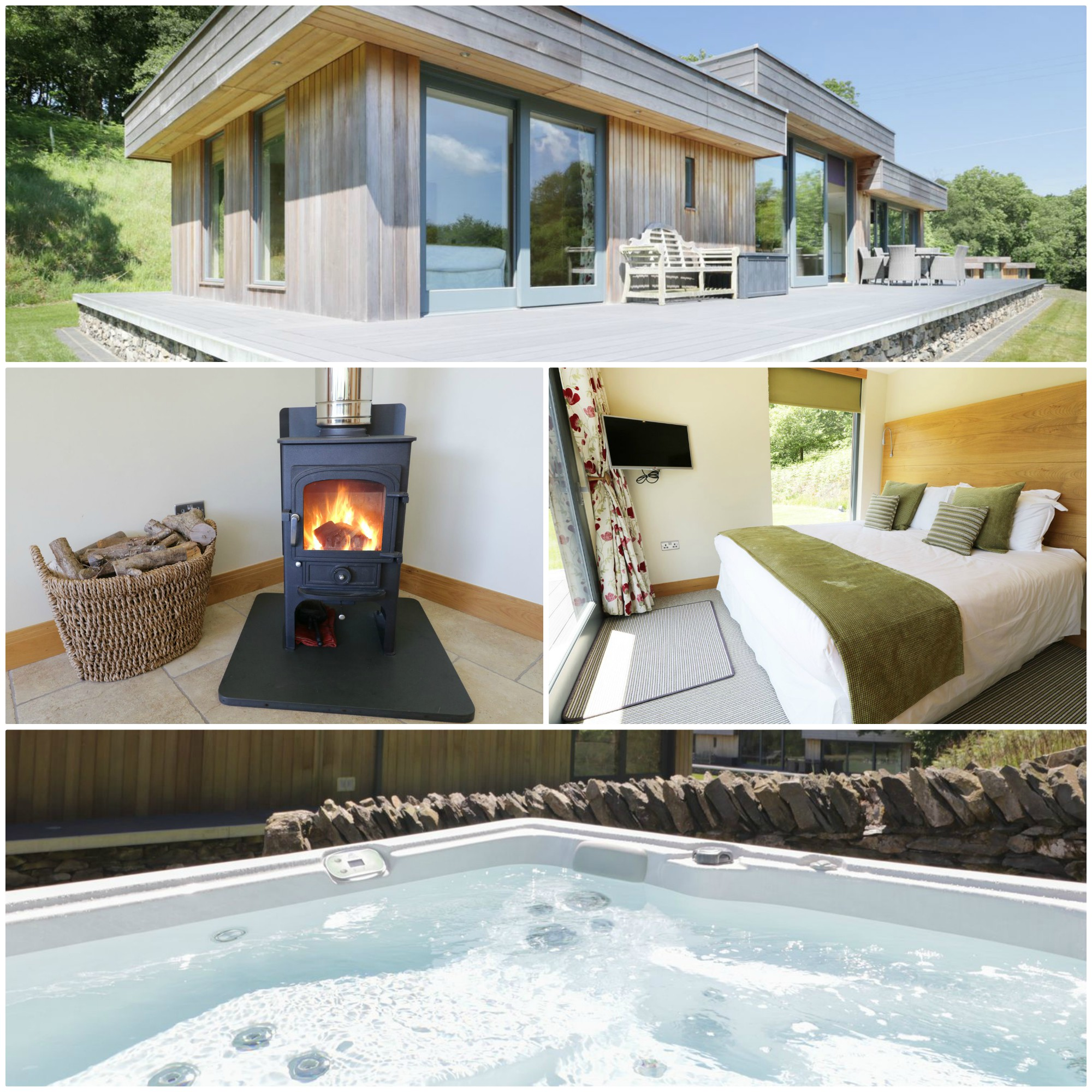 5* luxury for 6 in the Lake District with a hot tub and wood-burning stove