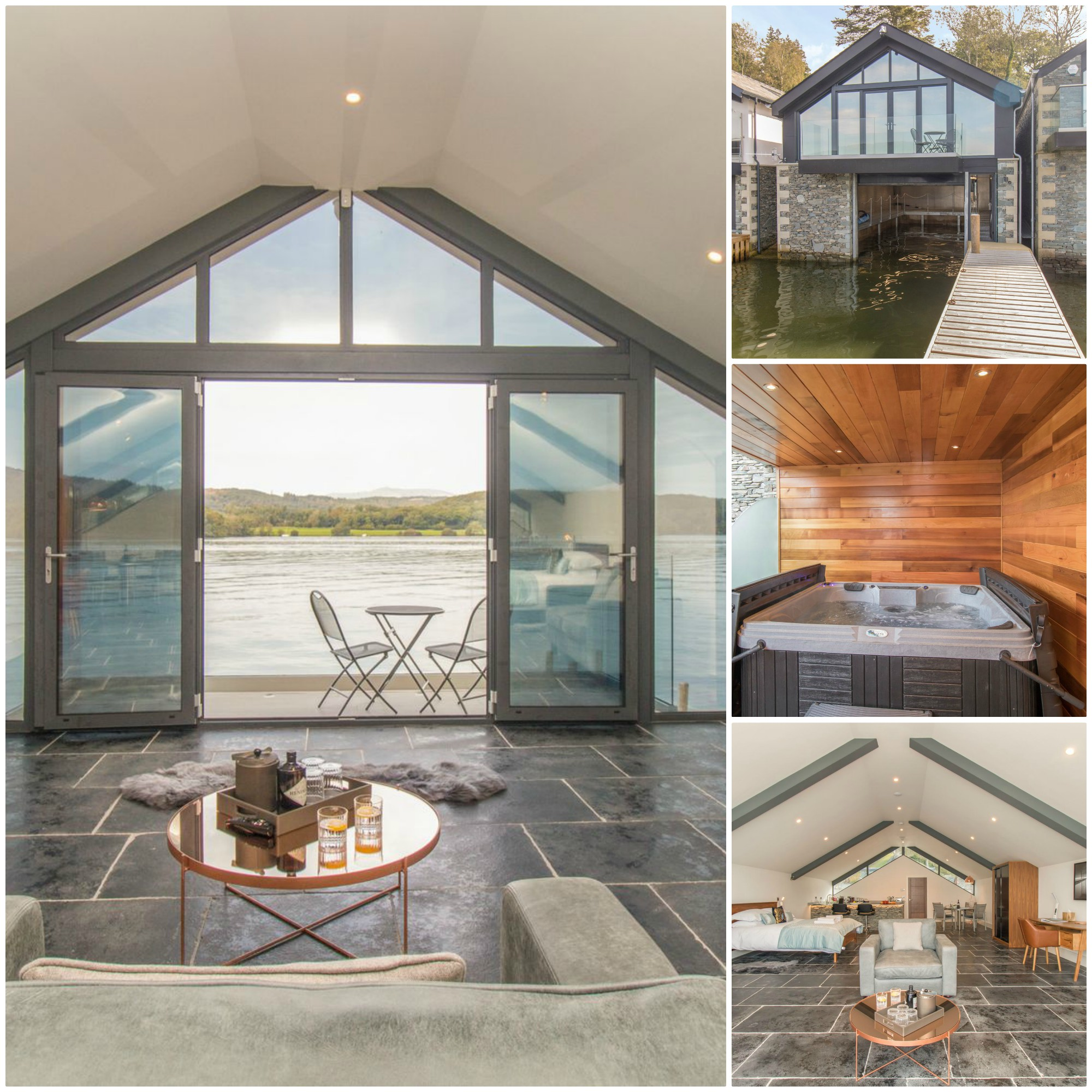 luxurious lake frontage accommodation for 2 in the heart of the English Lake District