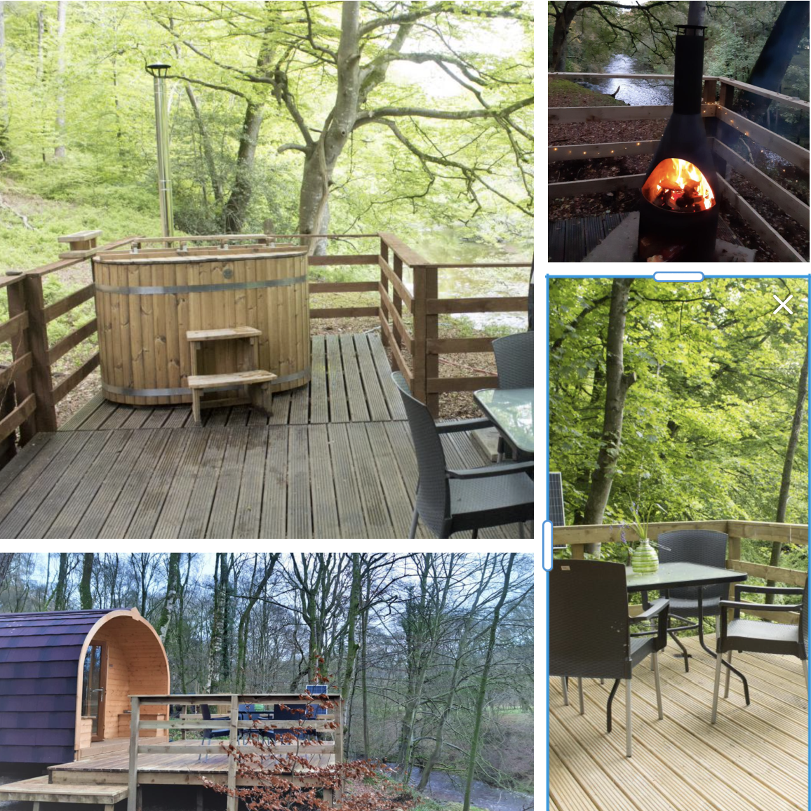 Cumbria eco friendly camping pods with hot tub and fire pit