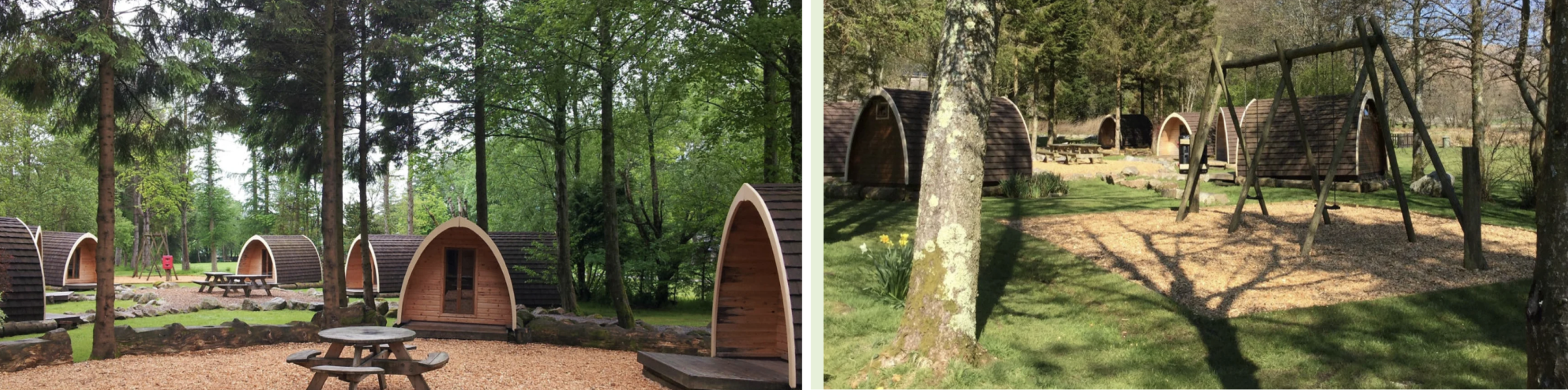 Camping Pods at the Eskdale National Trust site