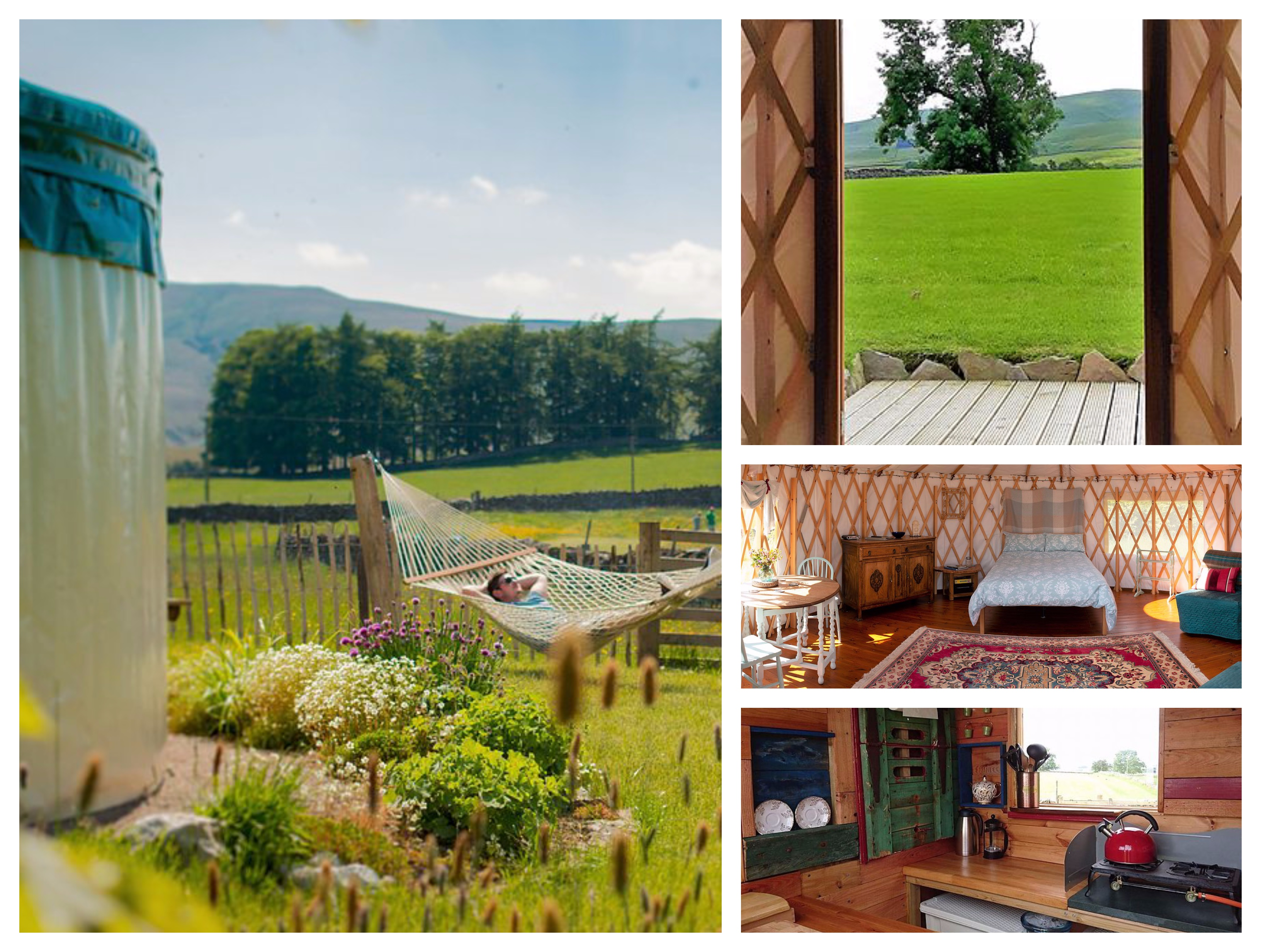 Yurt with woodburning stove in the Eden Valley with private kitchen & loo