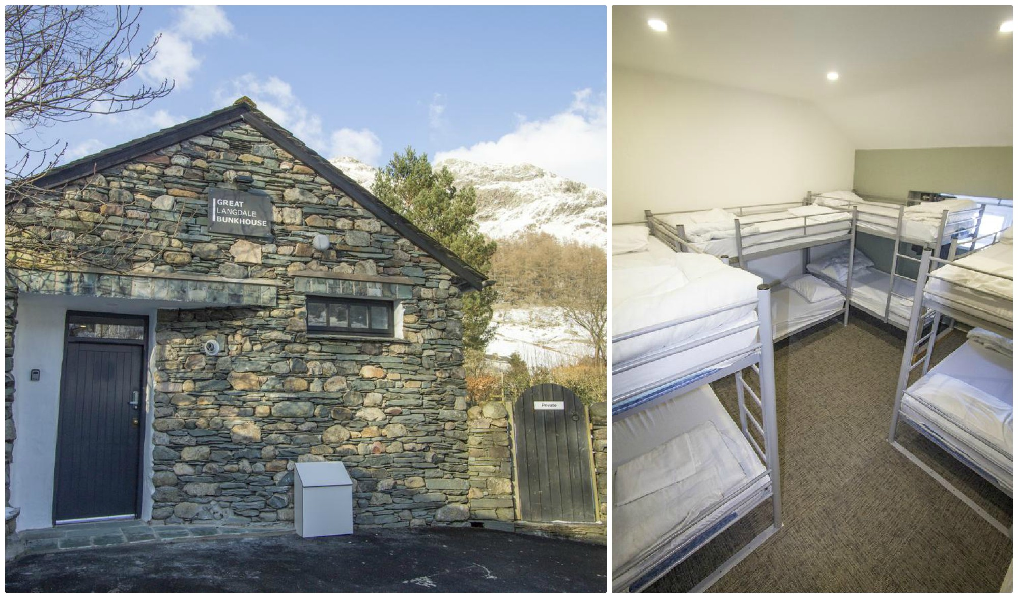 dog friendly bunkhouse at the foot of the Langdales