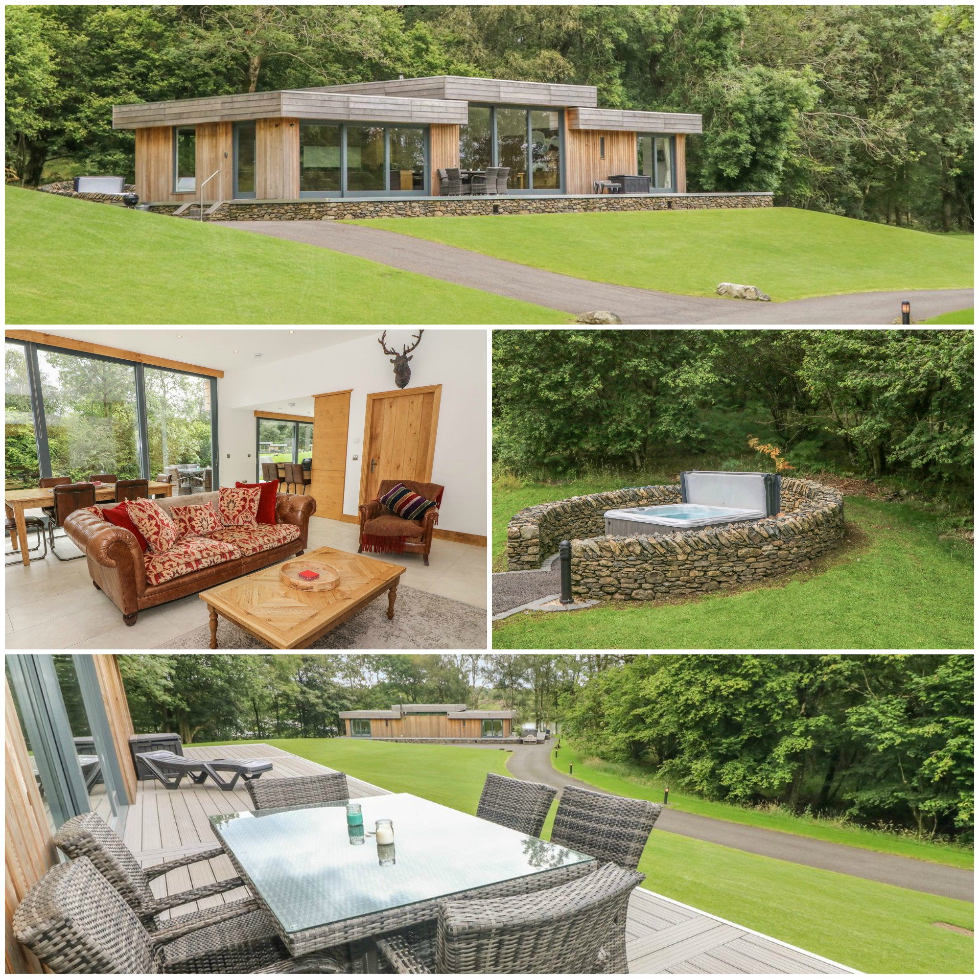 5* retreat for up to 6 close to the southern tip of Windermere and with its own hot tub