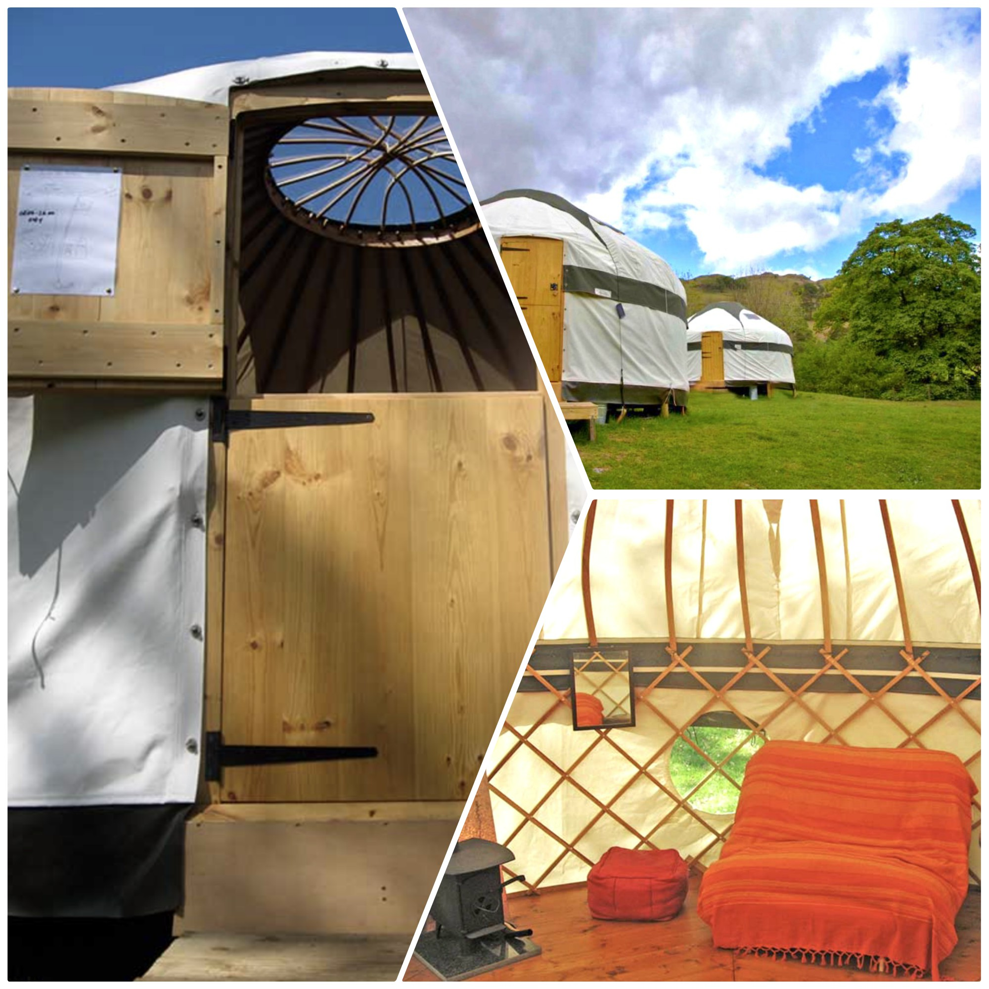 Glamping! Beautiful Yurts with glowing reviews by previous guests in the Borrowdale Valley