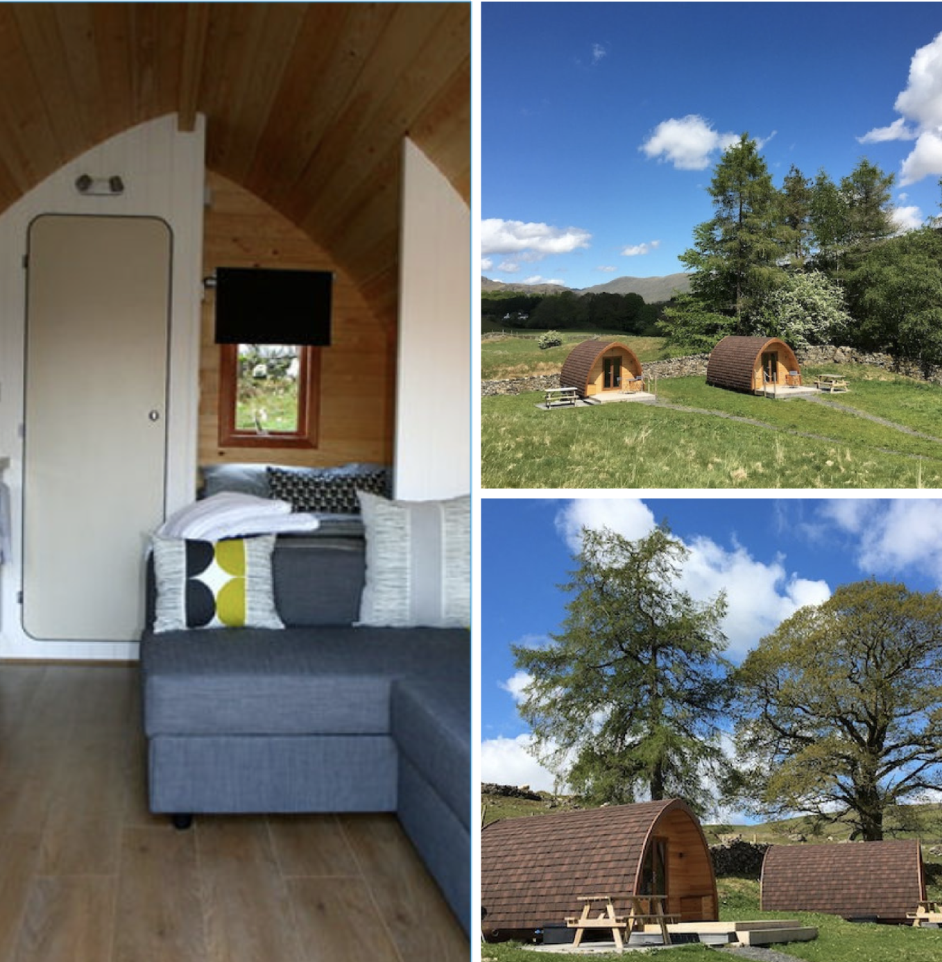 camping pods off the beaten track in beautiful rural Cumbria
