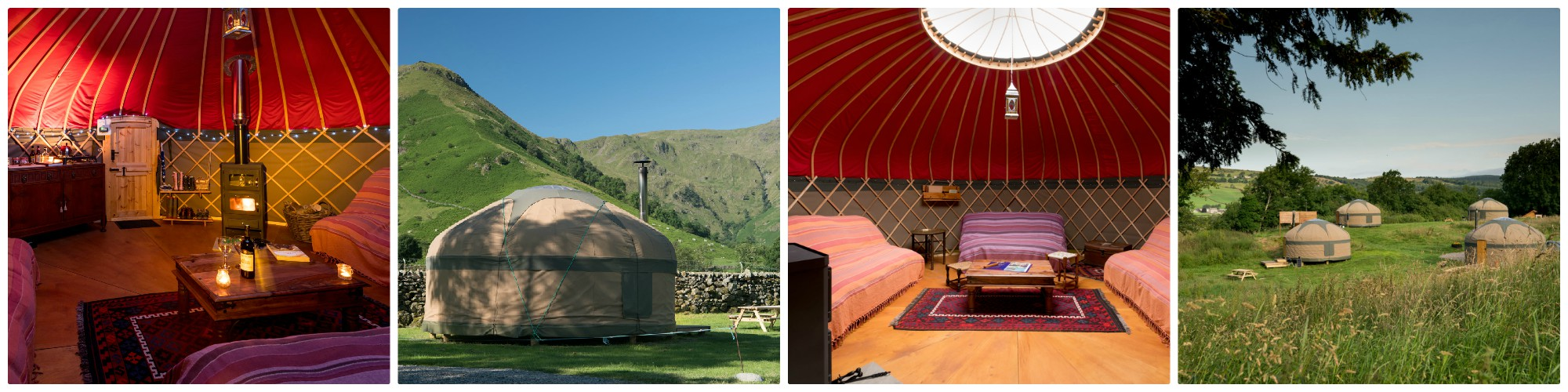 beautifully equipped Luxury Yurts in the Lake District