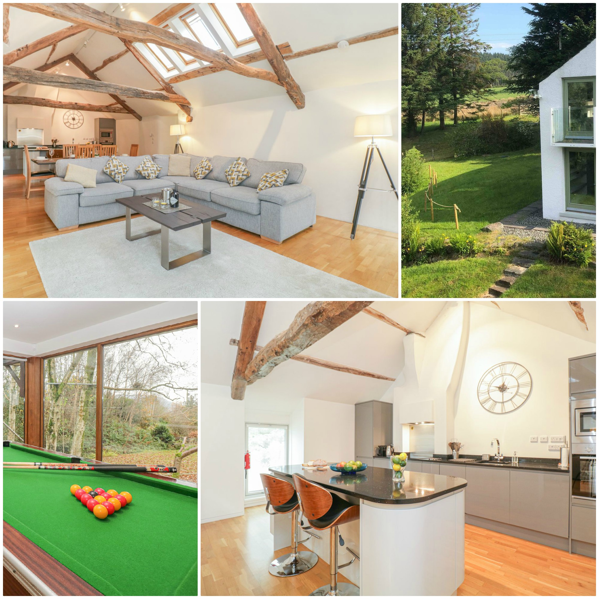 lovely rural self-catering cottage with a Games Room and Sonos speakers and high spec kitchen