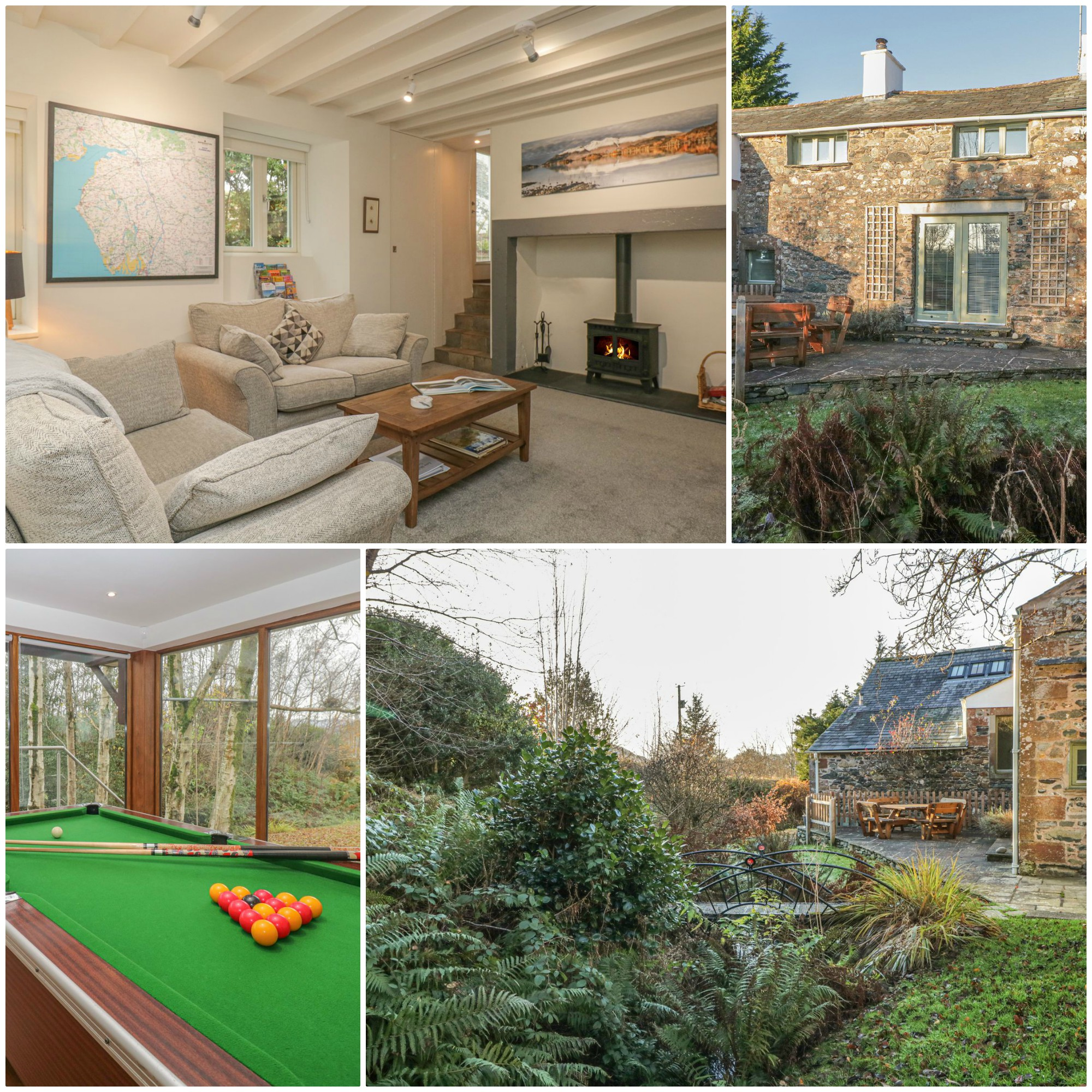 lovely rural location with lots of hidden luxuries such as Sonos speakers and a shared external games room this cottage in rural cumbria has a lot to offer