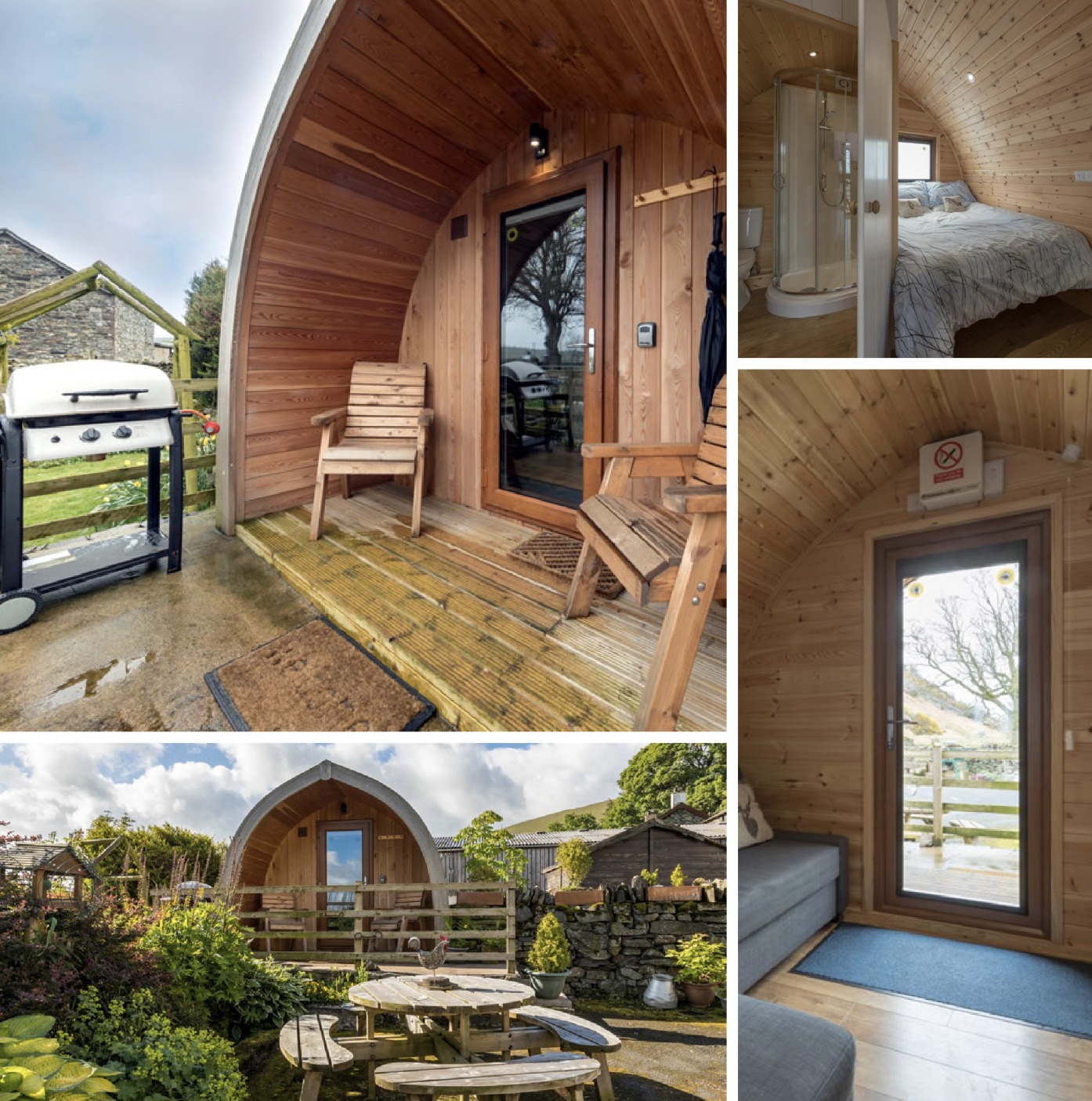 Well equipped Glamping Pod on a working farm in the rural north east corner of the beautiful Lake District