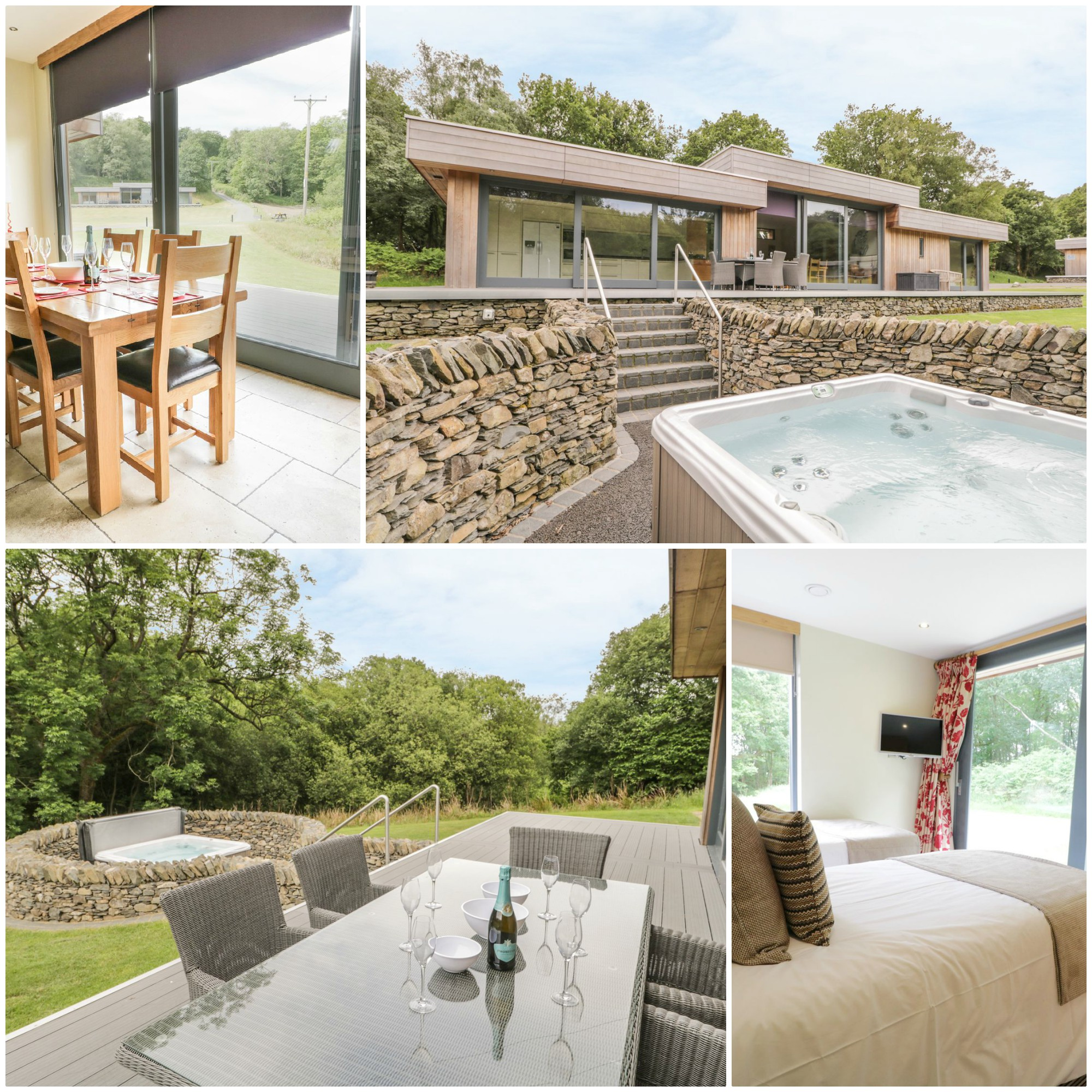 Luxurious lodge for 6 just south of the southern tip of Windermere