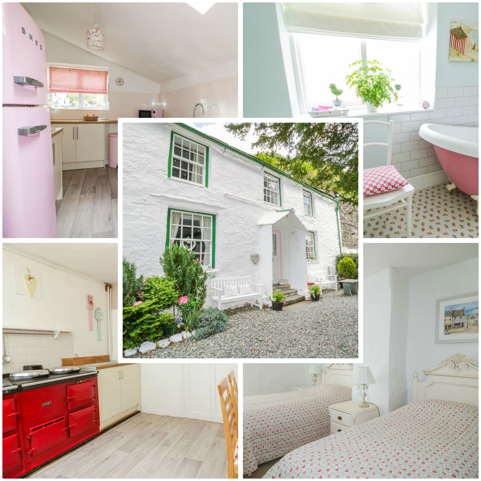 glowing reviews for this beautiful Lakeland cottage - a must for those with kids who love pink!