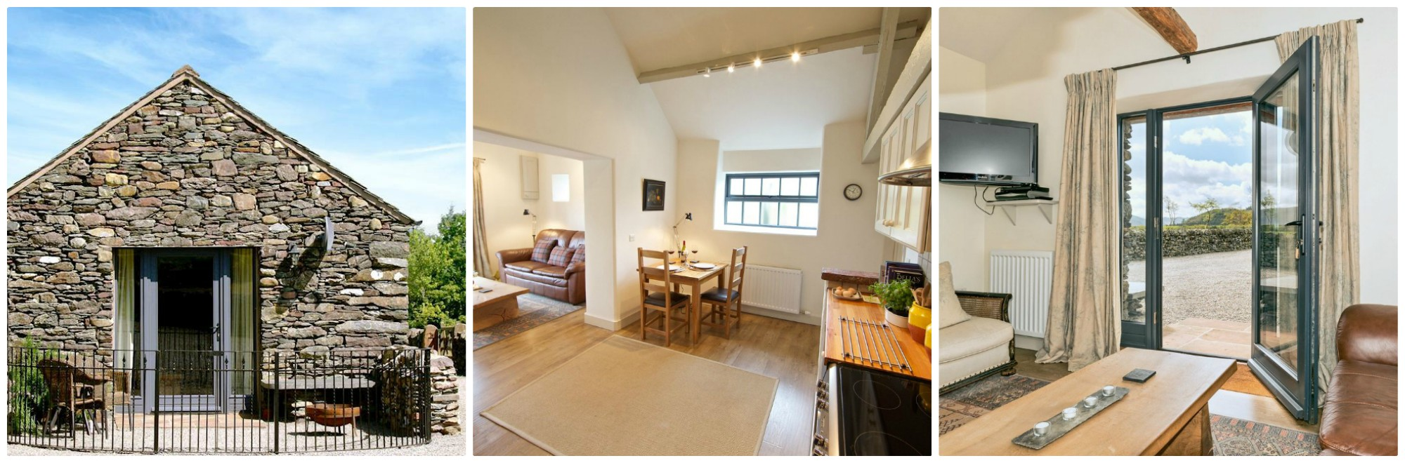Sleeps 2 and dog friendly  Contemporary Barn Conversion about a mile from the lake of Ullswater