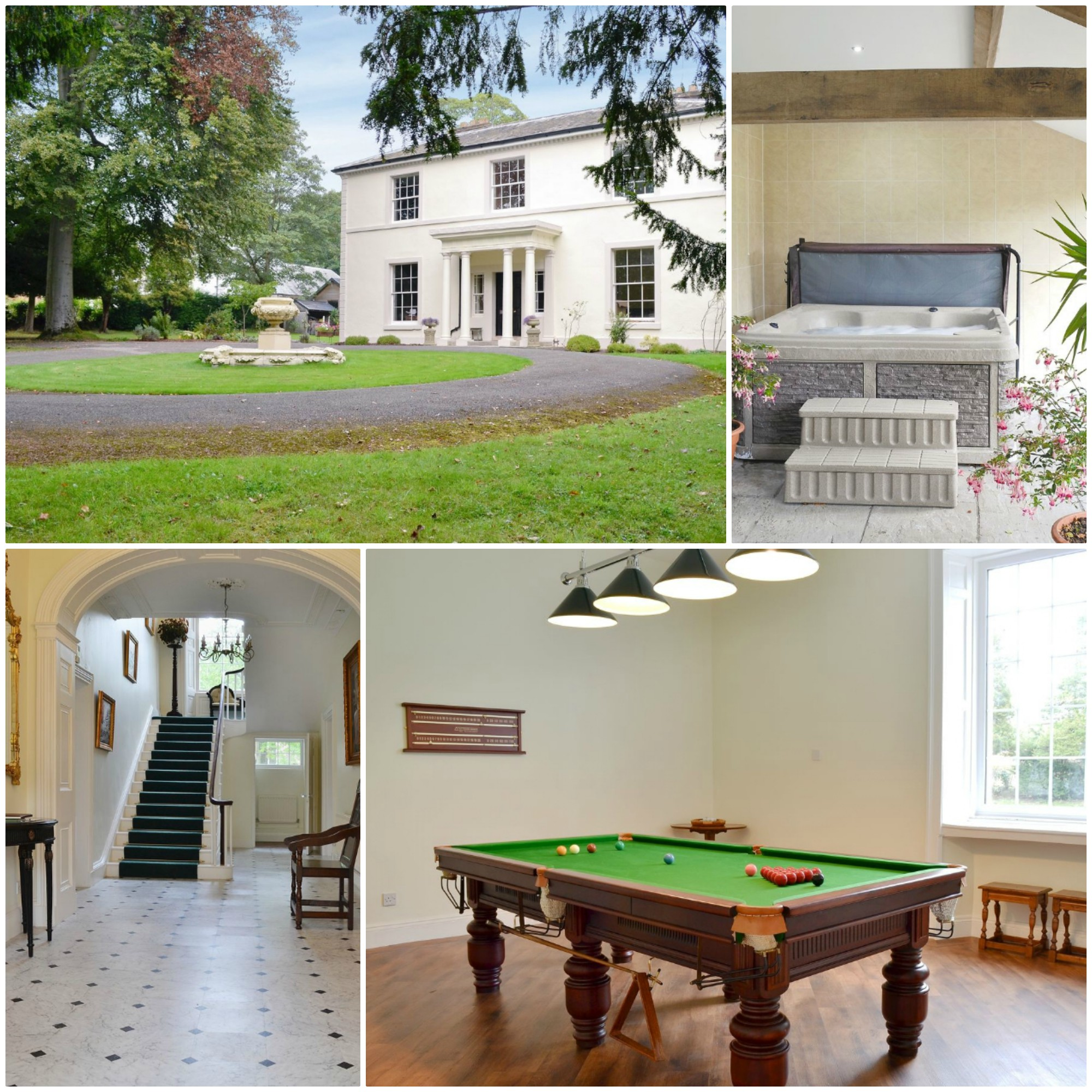 Lovely Georgian home in large grounds with a pool table and hot tub - pet friendly