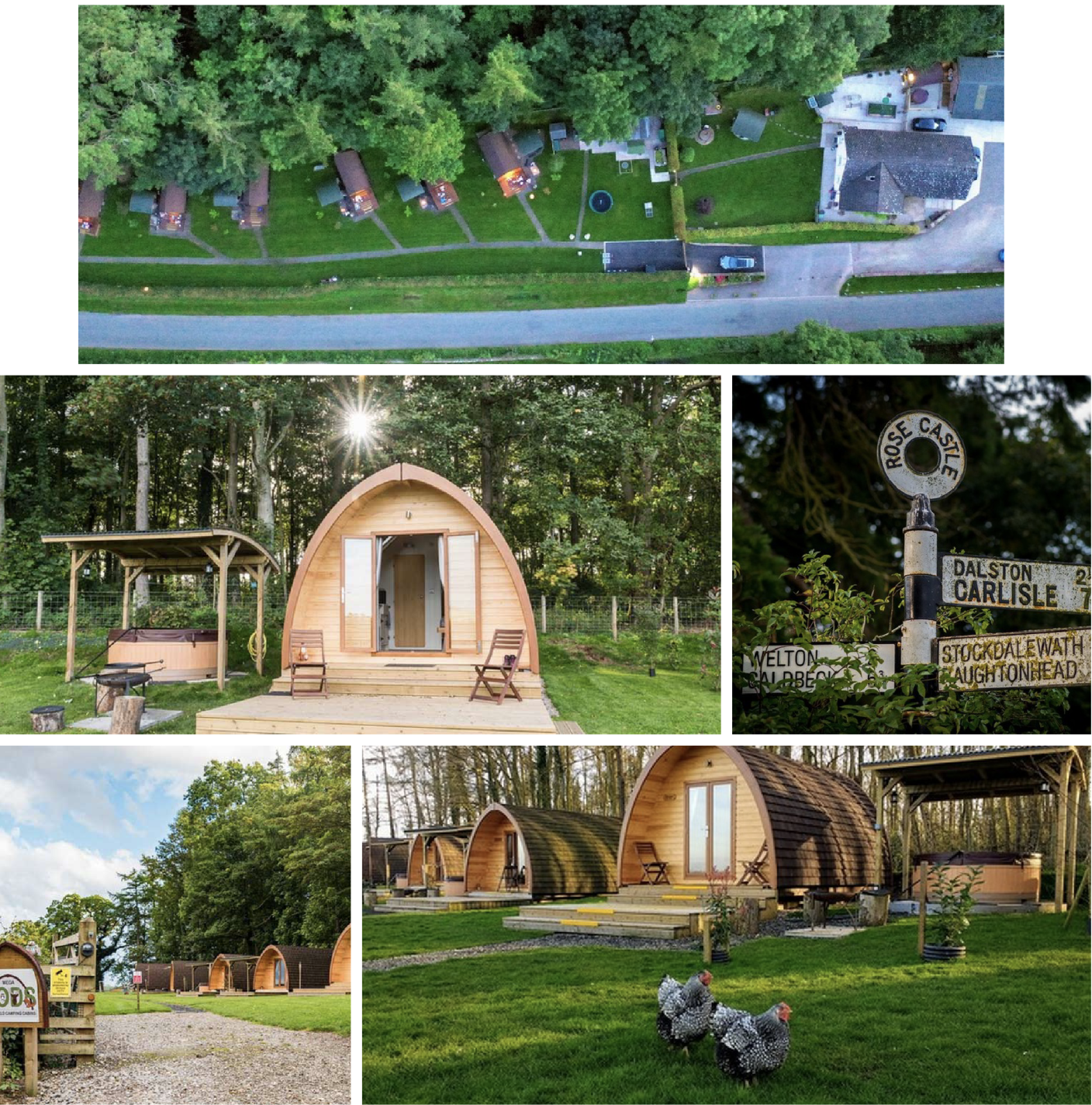 Camping Pods with Electric Charging in Cumbria