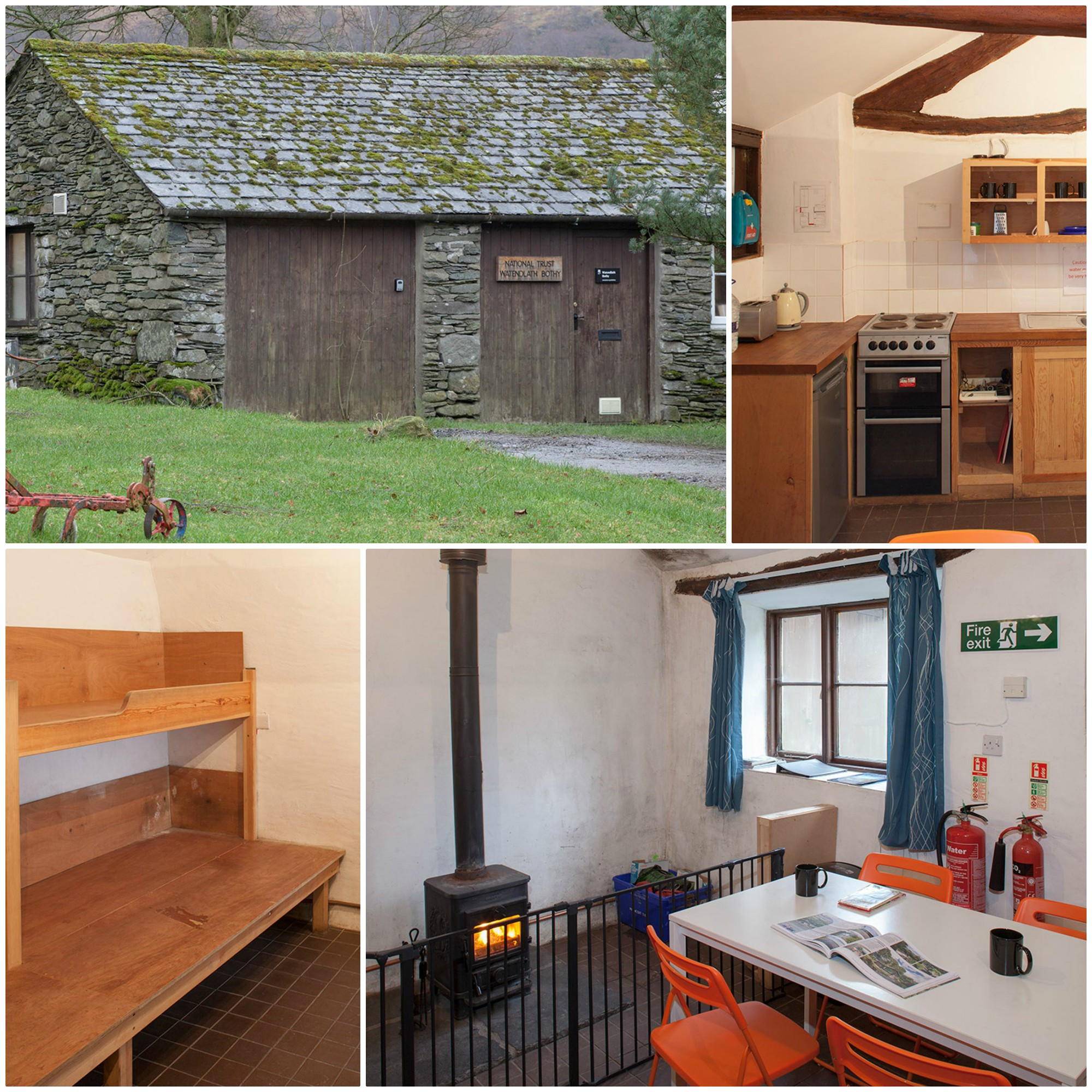National Trust owned Bothy  - sleeps 6 with wood-burning stove