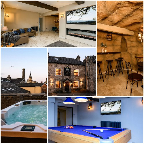 Sleeps 16 with Hot Tub / Cinema Room/ Games Room and parking for 5 cars