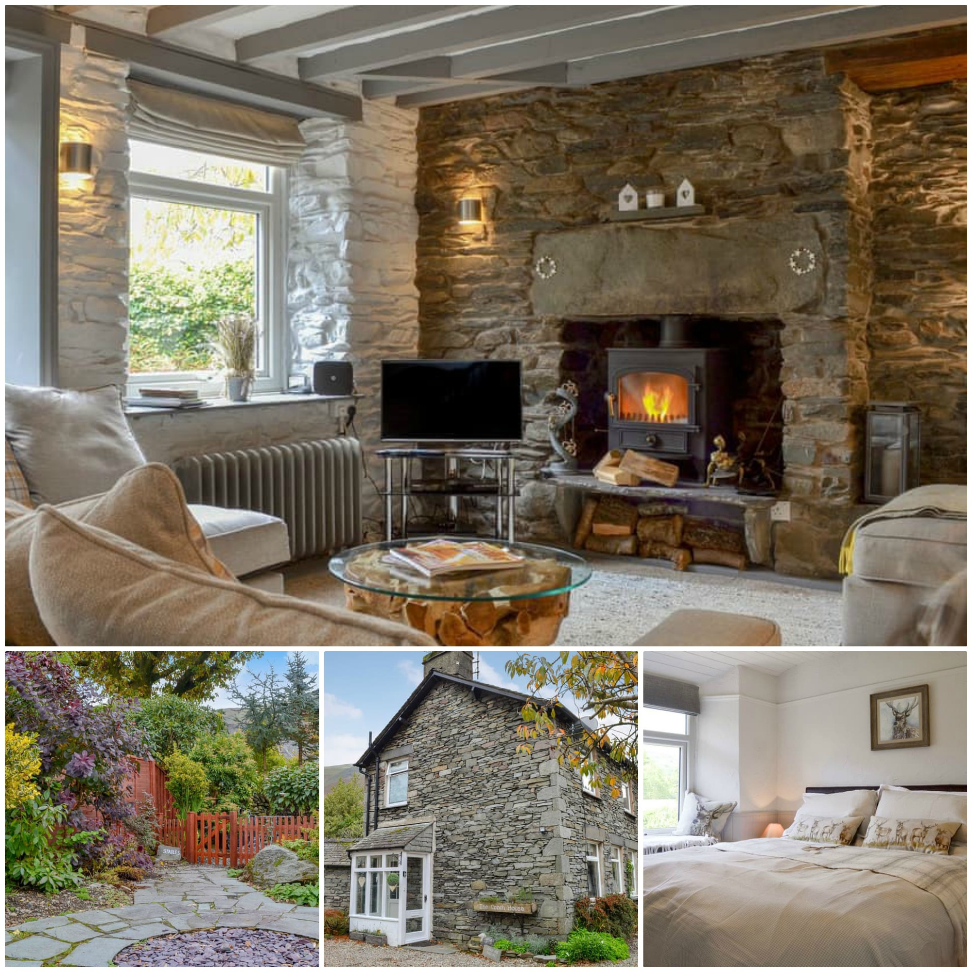 Traditional Lakeland holiday cottage with a wood-burning stove and pet friendly, in Grasmere
