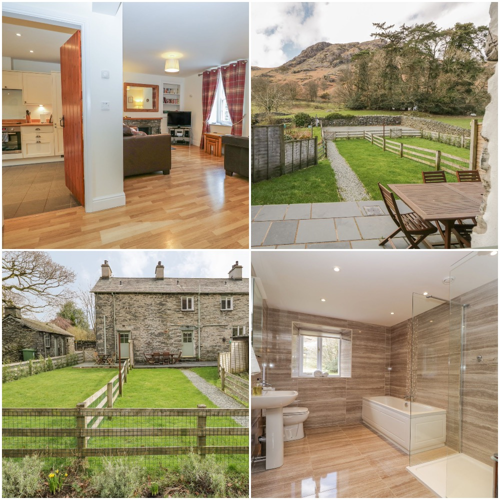 Coniston Self-catering with Two en-suite king bedrooms and great views and an open fire