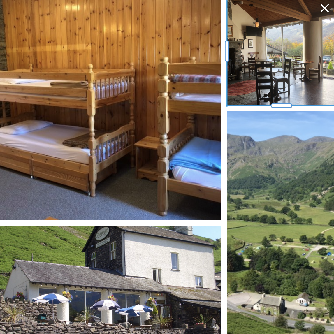 Bunkrooms sleeping two to six available in the pretty Dovedale valley near Patterdale and next to the Brotherswater Inn