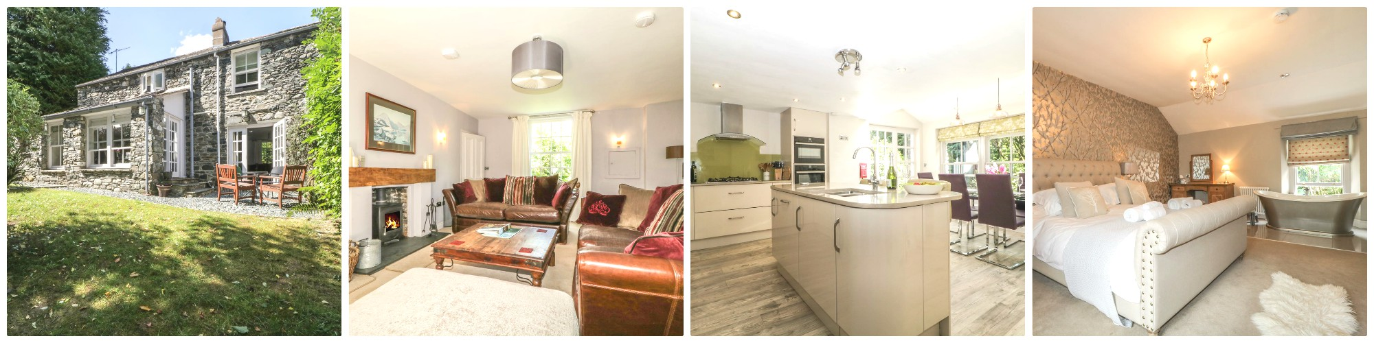 This traditional cottage has been renovated to include a lot of Wow factors including a roll-top free standing bath in one of the bedrooms