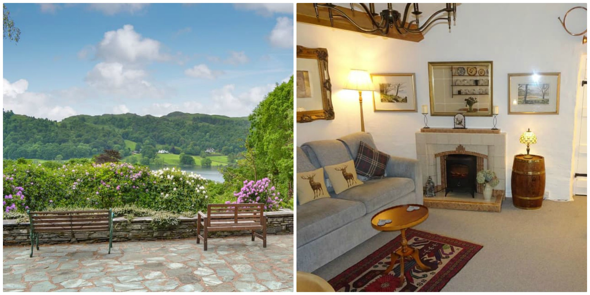 fabulous views of Grasmere from this dog friendly self-catering property for 2