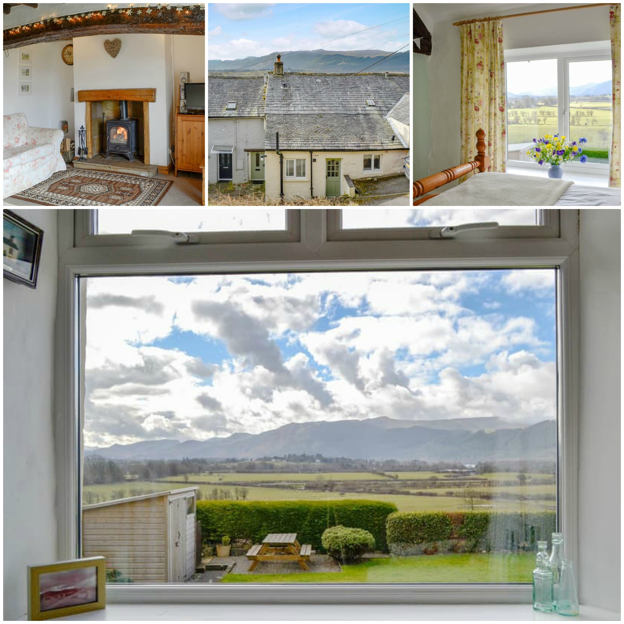 Breathtaking views of Bassenthwaite from the bedroom windows and garden this Lakeland terraced cottage is also pet friendly