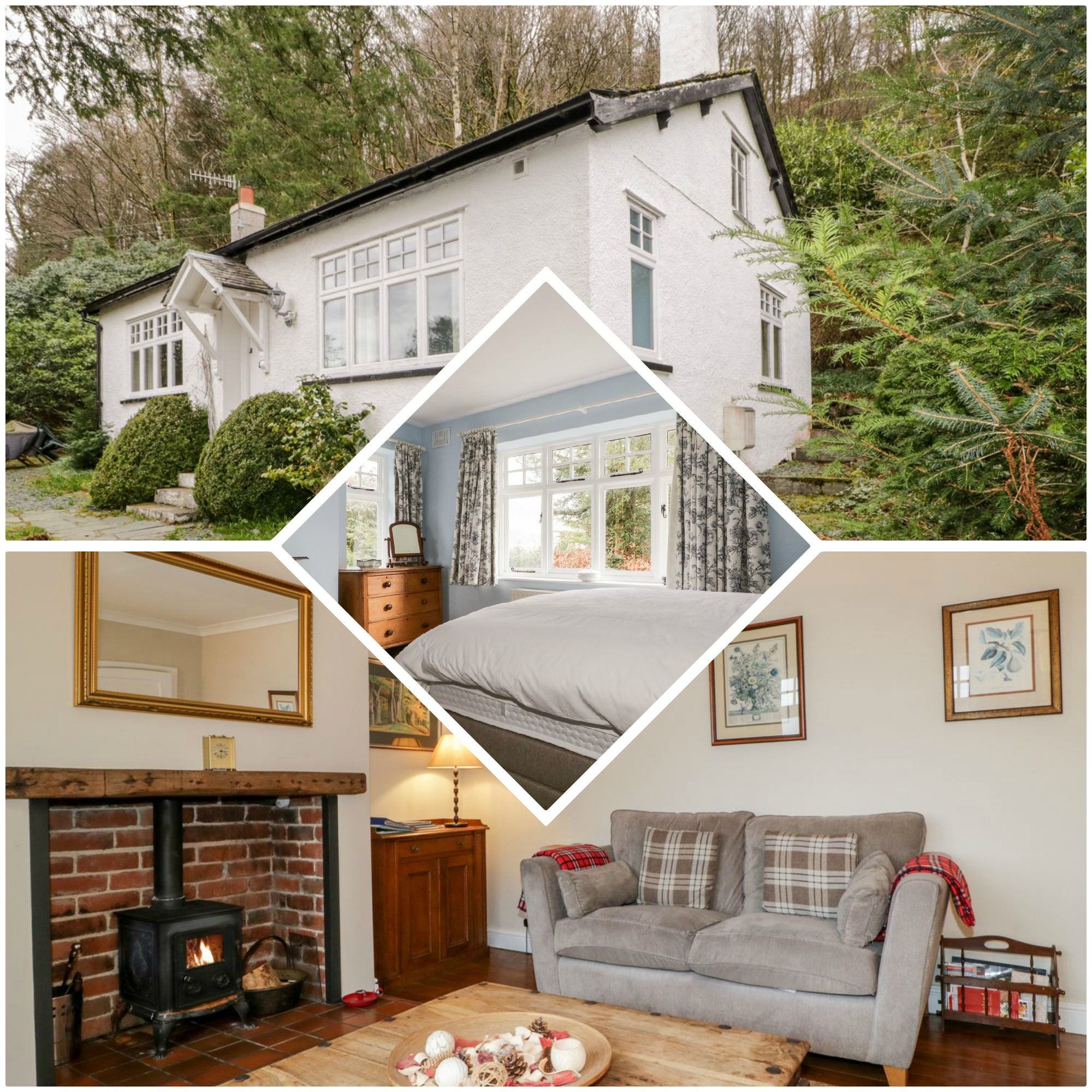 definitely a little more off the beaten track, this lovely Lakeland cottage has everything for a family of 4